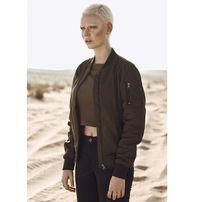 Urban Classics Ladies Nylon Twill Bomber Jacket darkolive/black