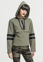 Urban Classics Ladies Peached Terry Troyer Hoody olive/black