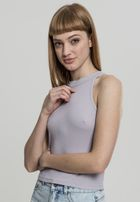 Urban Classics Ladies Rib Turtelneck Cropped Top grey
