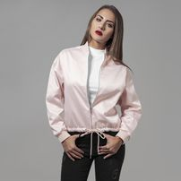 Urban Classics Ladies Satin Kimono Blouson light pink