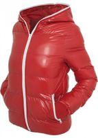 Urban Classics Ladies Shiny Bubble Jacket red/wht