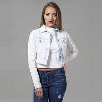 Urban Classics Ladies Short Denim Jacket heavy bleached