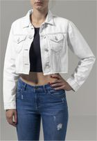 Urban Classics Ladies Short Denim Jacket white