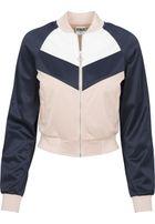 Urban Classics Ladies Short Raglan Track Jacket light rose/navy/white