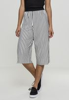 Urban Classics Ladies Stripe Pleated Culotte white/black