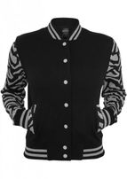 Urban Classics Ladies Zebra 2-tone College Sweatjacket gry/blk