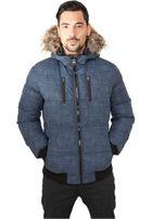 Urban Classics Melange Expedition Bubble Jacket blue melange