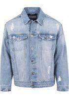 Urban Classics Ripped Denim Jacket bleached