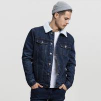 Urban Classics Sherpa Denim Jacket darkblue