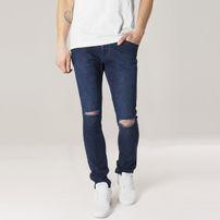 Urban Classics Slim Fit Knee Cut Denim Pants dark blue