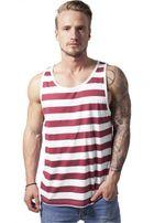 Urban Classics Stripe Big Tank wht/ruby