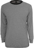 Urban Classics Striped Longsleeve T-Shirt blk/wht