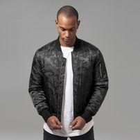 Urban Classics Tonal Camo Bomber Jacket black