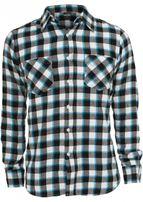 Urban Classics Tricolor Checked Light Flanell Shirt blkwhttur