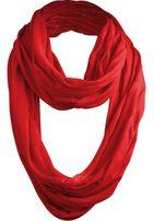 Urban Classics Wrinkle Loop Scarf red