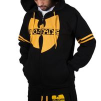 Wu-Wear Wu Tang Clan 36 Zip Hoodie Black Yellow