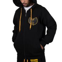 Wu-Wear Wu Tang Clan WU Protect Ya Neck Zip Hoodie Black Gold