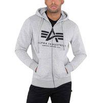 Alpha Industries Basic Zip Hoody Grey