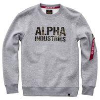 Alpha Industries Camo Print Sweat Grey Heather