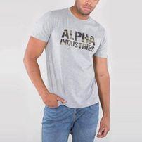 Alpha Industries Camo Print Tee Grey