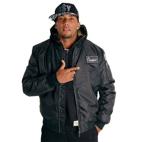 Cocaine Life Basic Bomber Jacket Black