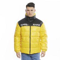 Karl Kani Retro Block PU Puffer Jacket yellow/black