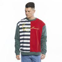 Karl Kani Sweatshirt Signature Block Crew navy/white/red/green