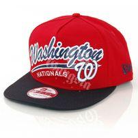 New Era 9Fifty Script Logo Washington National Snapback Red Black