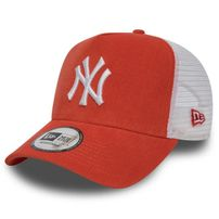 check out 996e5 b726d New Era 9Forty A Frame Trucker Cap NY Yankees Micro Cord Orange