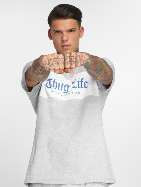 Thug Life T Shirt Freeze In Grey Gangstagroup Com Online Hip