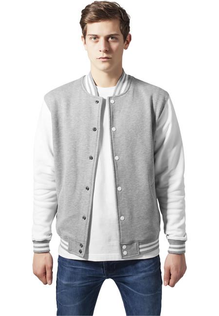 Urban Classics 2-Tone College sweatjacket tb207 Black Grey 78fea685eaa