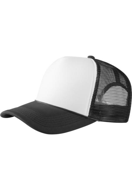 Baseball Cap Trucker high profile blk/wht - UNI