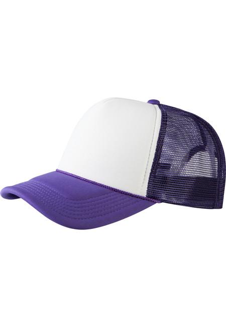 Baseball Cap Trucker high profile pur/wht - UNI