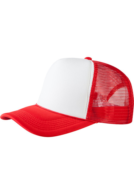 Baseball Cap Trucker high profile red/wht - UNI