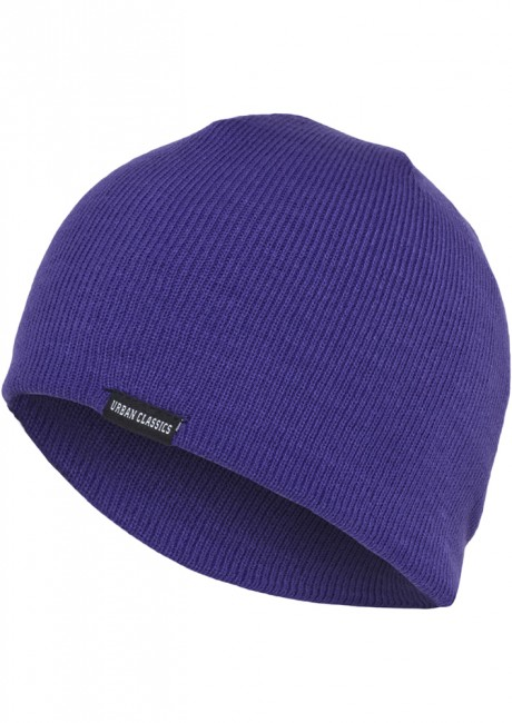 Basic Beanie purple - UNI