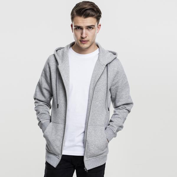 Basic Zip Hoody grey - XXL