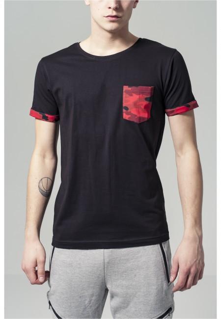 Camo Contrast Pocket Tee red camo - XXL