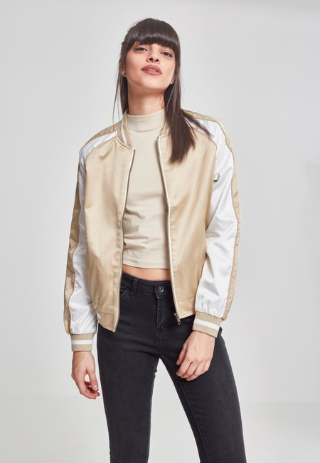d3b1f621440ed Urban Classics Ladies 3-Tone Souvenir Jacket gold offwhite gold ...
