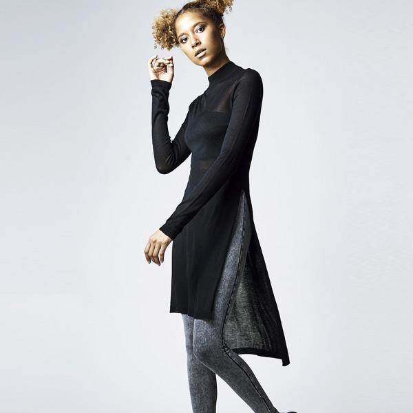 Womens Ladies Long Turtleneck Dress Urban Classic iRRvip