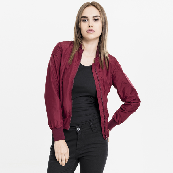 3494b1ca1f2c Urban Classics Ladies Light Bomber Jacket burgundy - Gangstagroup ...