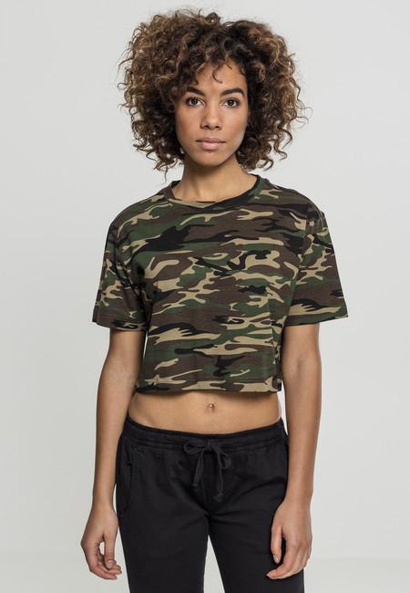 Urban Classics Ladies Short Oversize Tee wood camo