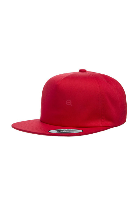 Unstructured 5-Panel Snapback red - UNI