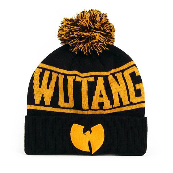 Wu-Tang Logo Winter Cap Black Yellow - Gangstagroup.com - Online Hip ... d066420b570